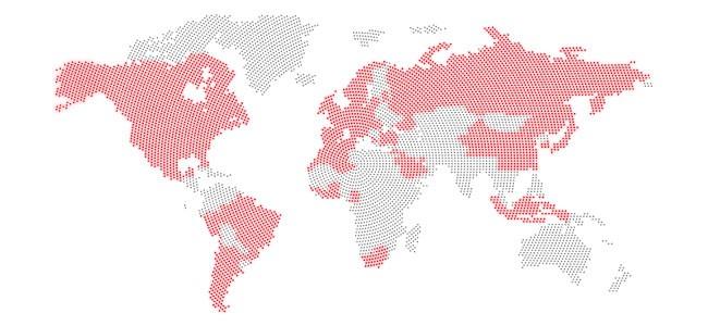 Location of the PDC machines installed/Localisation des machines installées dans le monde